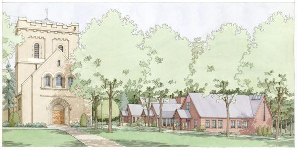 Rendering of Chapel addition