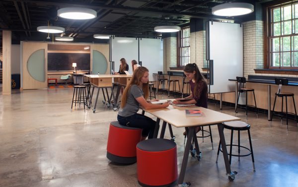 Maker space with students