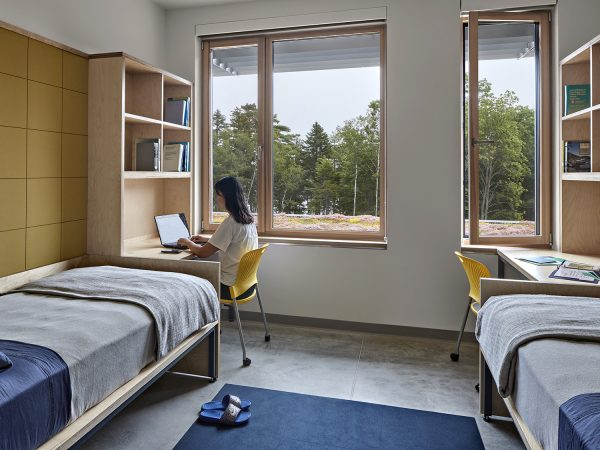 Student dorm room at Shimmield Hall