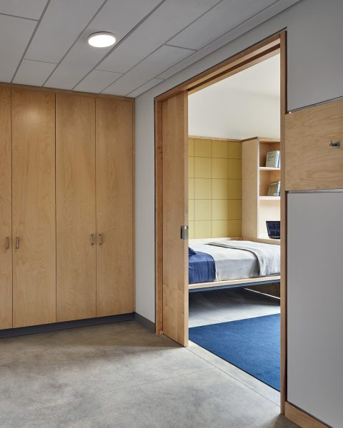Dorm room entry at Graham Shimmield Residence Hall