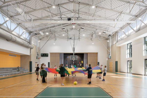 Children playing in multipurpose room