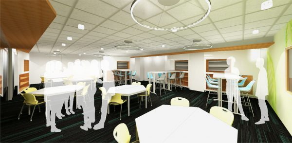 classroom interior rendering