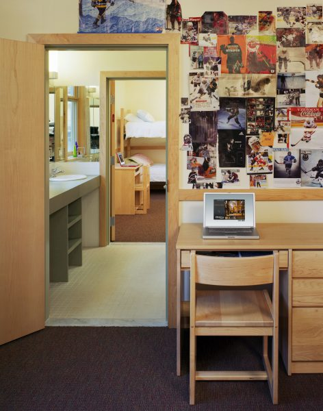 View of the interior of a dorm room