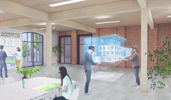 Interior Classroom View with VR